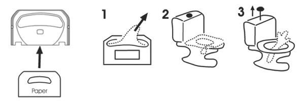 Тримач гігієнічних накладок на унітаз MAXI. K7 - Фото №3