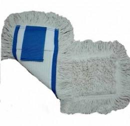 МОП (вкладка) с кишенями для прибирання підлоги 40 см. NZE046WP. - Фото