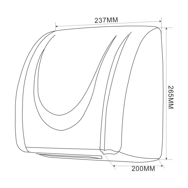 Сушилка для рук ABS пластик.  ZG-835. - Фото №2