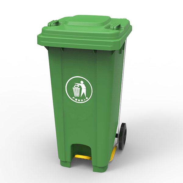 Бак для сміття з пластиковою педаллю 120л., зелений. 120U-14G - Фото №2