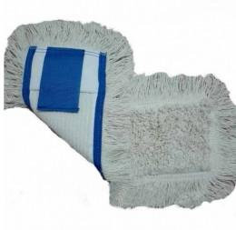 МОП (вкладыш) с карманами и отворотами  для  уборки пола 50 см. NZE047WP.  - Фото