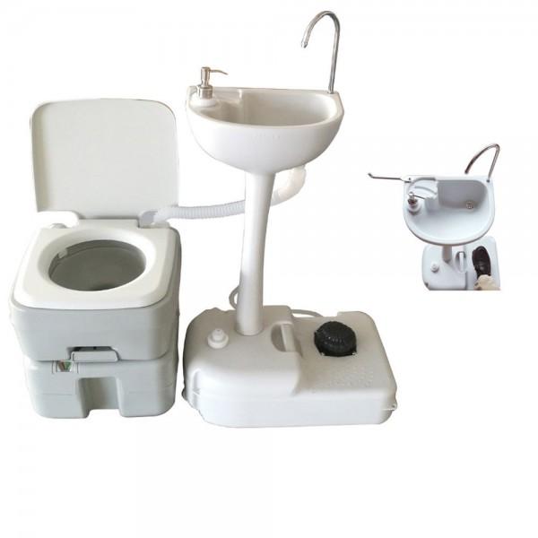 Комплект для кемпінгу: біотуалет і переносний умивальник. 1020T + CHH-7701 - Фото №1