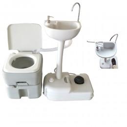 Комплект для кемпінгу: біотуалет і переносний умивальник. 1020T + CHH-7701 - Фото