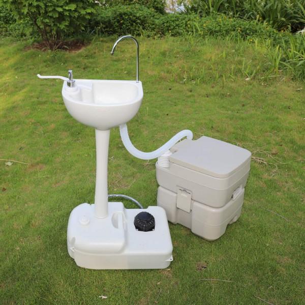 Комплект для кемпінгу: біотуалет і переносний умивальник. 1020T + CHH-7701 - Фото №2