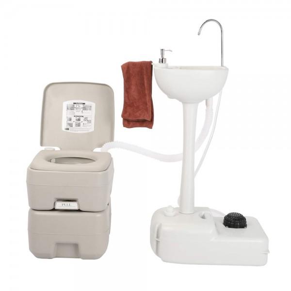 Комплект для кемпінгу: біотуалет і переносний умивальник. 1020T + CHH-7701 - Фото №3