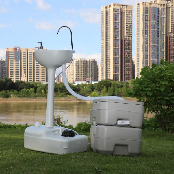 Комплект для кемпінгу: біотуалет і переносний умивальник. 1020T + CHH-7701 - Фото №4