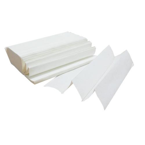 Паперові рушники листові, білі, Z-складання, 2 шари, 7818 - Фото №1