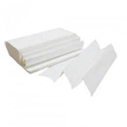 Паперові рушники листові, білі, Z-складання, 2 шари, 7818 - Фото