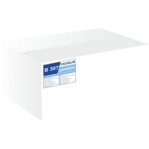 Туалетний папір листовий, целюлозна, білий 1 шар, 250 листів.  B-307 - Фото №2