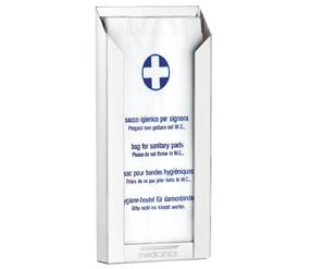 Тримач пакетів гігієнічних SANITARY білий. DBH100 - Фото №1