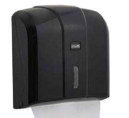 Тримач паперових рушників C, V складка, чорний пластик. K4B