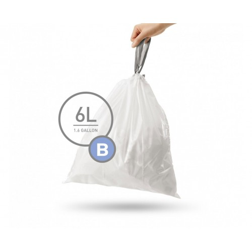 Мішки для сміття щільні із зав`язками 6 л SIMPLEHUMAN. CW0251 - Фото №1