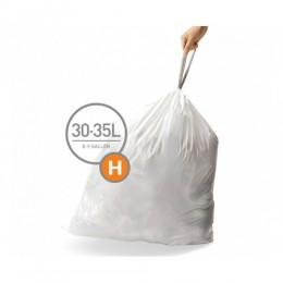 Мішки для сміття щільні із зав`язками 30-35 л SIMPLEHUMAN. CW0258
