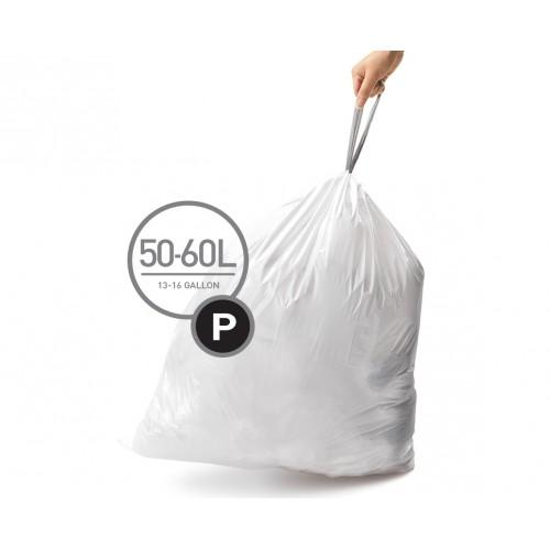 Мішки для сміття щільні із зав`язками 50-60 л SIMPLEHUMAN. CW0263 - Фото №1