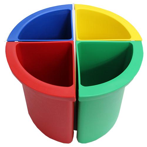 Разделитель урны для мусора желтый  ACQUALBA. A54608 - Фото №2