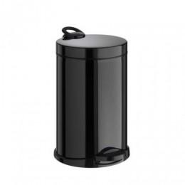 Корзина для мусора металл черный 14 л, с педалью. M714B - Фото