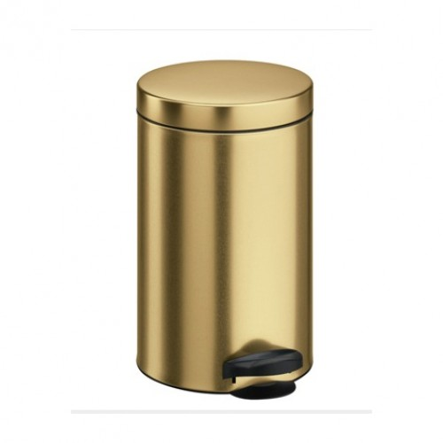 Кошик для сміття метал золотистого кольору 14 л, з педаллю.  M714Gold - Фото №1