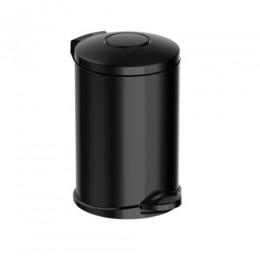 Корзина для мусора  металл черный с педалью 14 л. M914B - Фото