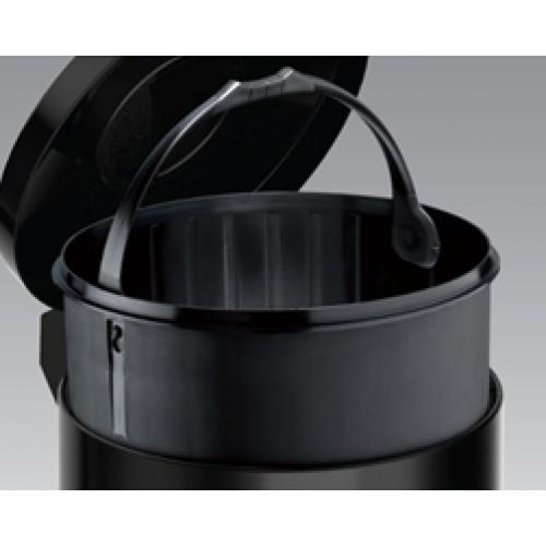 Корзина для сміття метал чорний з педаллю 14 л. M914B - Фото №4
