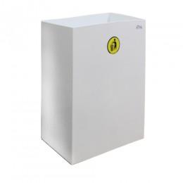 Корзина для паперових рушників метал белый 60 л. M 160W