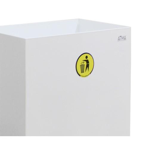 Корзина для паперових рушників метал белый 60 л. M 160W - Фото №2