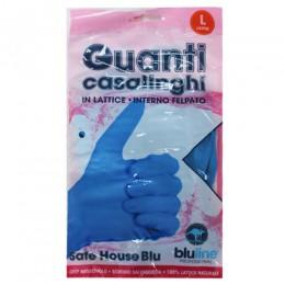 Перчатки латексные хозяйственные, L, 2шт. SAFE HOUSE BLU. GUL008BLL - Фото