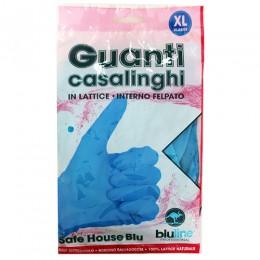 Перчатки латексные хозяйственные, XL, 2шт. SAFE HOUSE BLU. GUL008BLXL - Фото