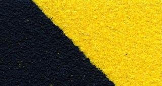 Протиковзка стрічка Heskins Чорно-Жовта Грубозерниста. H3402D - Фото №1