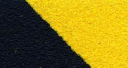 Противоскользящая лента Heskins Черно-Желтая Крупнозернистая 50 мм.  H3402D50 - Фото