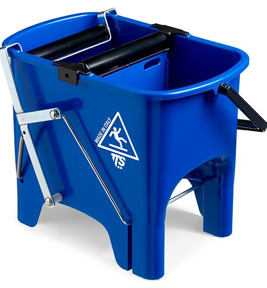 Відро для прибирання з віджимом SQUIZZY синє, 15л.  0B006410 - Фото №1