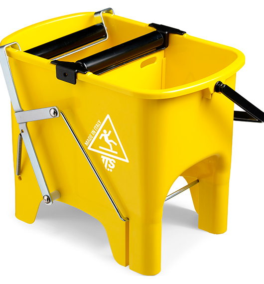 Відро для прибирання з віджимом SQUIZZY жовте, 15л.  0G006410 - Фото №1