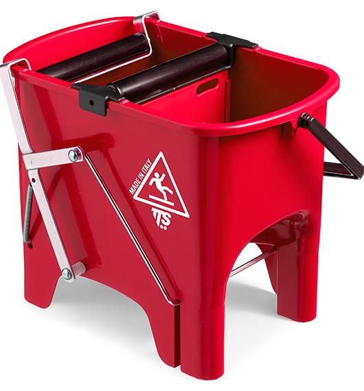 Відро для прибирання з віджимом SQUIZZY червоне, 15л.  0R006410 - Фото №1