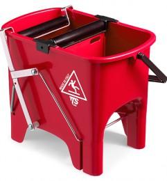 Ведро для уборки с отжимом SQUIZZY  красное, 15л. 0R006410 - Фото