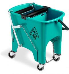 Ведро для уборки с отжимом SQUIZZY  зеленое с колесами, 15л. 0V006415 - Фото