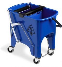 Ведро для уборки с отжимом SQUIZZY  синее с колесами, 15л. 0B006415 - Фото