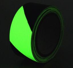 Фотолюминесцентная разметочна лента для выходов предупреждающая Egress Glow Heskins. H8101D25 - Фото
