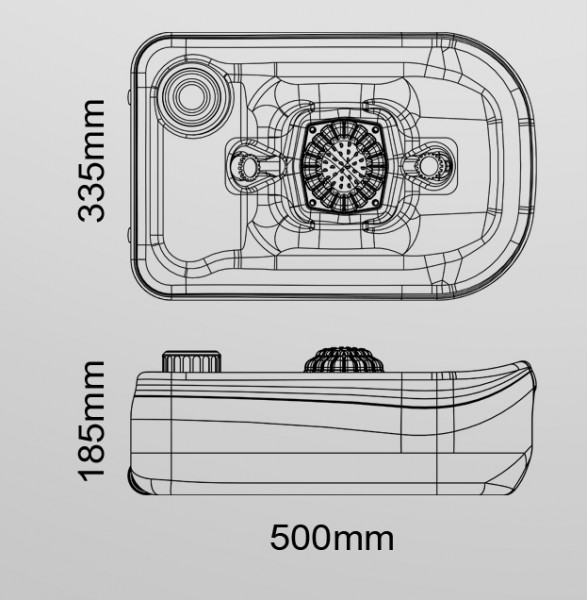 Портативний (автономний) прилад для миття ніг або взуття. CHH-7710. - Фото №3