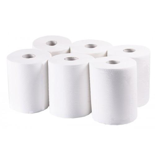 Рушники паперові, целюлоза біла, 2 шари, БЕЗ ПЕРФОРАЦІЇ, Premium MIDI. P185 - Фото №1