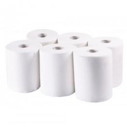 Полотенца бумажные, целлюлоза белая, 2 слоя,  БЕЗ ПЕРФОРАЦИИ,  Premium MIDI.  P185 - Фото