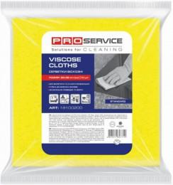 Серветки PRO service віскозні Standard 10 шт жовті. 19100200 - Фото