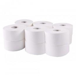 Туалетний папір рулонний, целюлоза, 2 шари, 96 м, Джамбо.  203020 - Фото