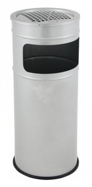 Урна-попільничка, оцинкована, пофарбована, срібляста, 15 л. Мальборо-срібляста - Фото №1
