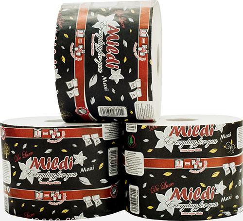 Туалетная бумага Mildi De Luxe Maxi двухслойная 65 м 200 отрывов 9 рулонов Белая. K-65 - Фото №1