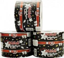 Туалетная бумага Mildi De Luxe Maxi двухслойная 65 м 200 отрывов 9 рулонов Белая. K-65 - Фото