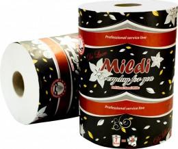 Бумажные полотенца Mildi De Luxe двухслойные 90 м 330 отрывов, белые 2 слоя. K-90 - Фото