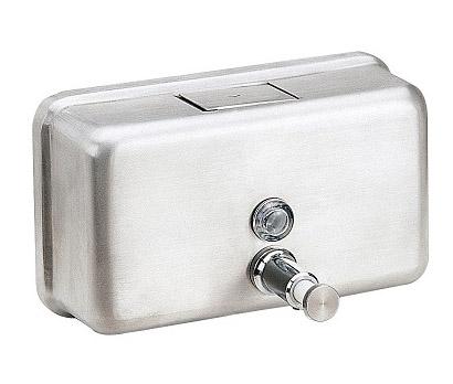 Дозатор жидкого мыла горизонтальный матовый, 1,2 л. ZG-1603CS - Фото №1