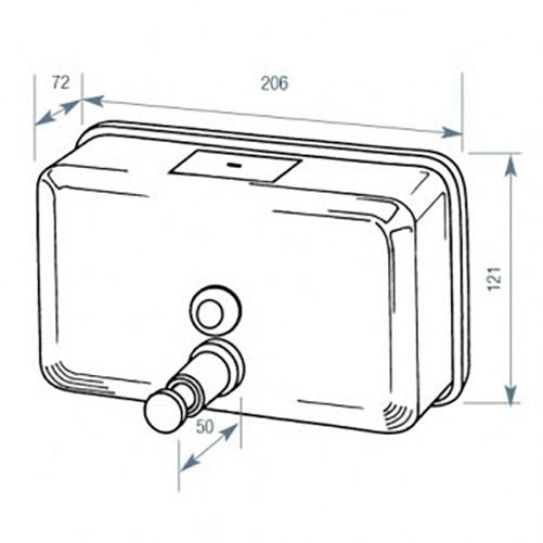 Дозатор жидкого мыла горизонтальный матовый, 1,2 л. ZG-1603CS - Фото №2