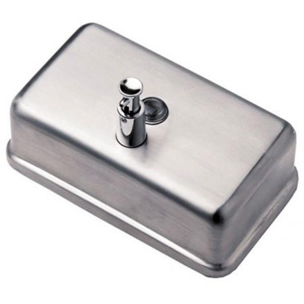 Дозатор жидкого мыла горизонтальный матовый, 1,2 л. ZG-1603CS - Фото №3