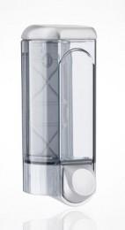 Дозатор рідкого мила 0.8 л, сатиновий/прозорий, пластик 562satin
