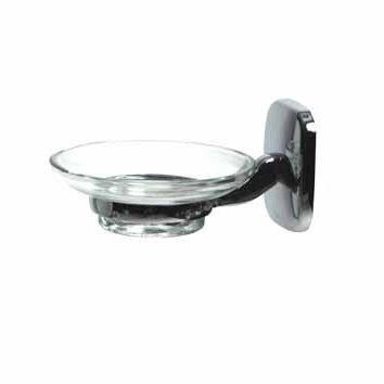 Держатель мыла (стеклянное блюдечко). 7259. - Фото №1